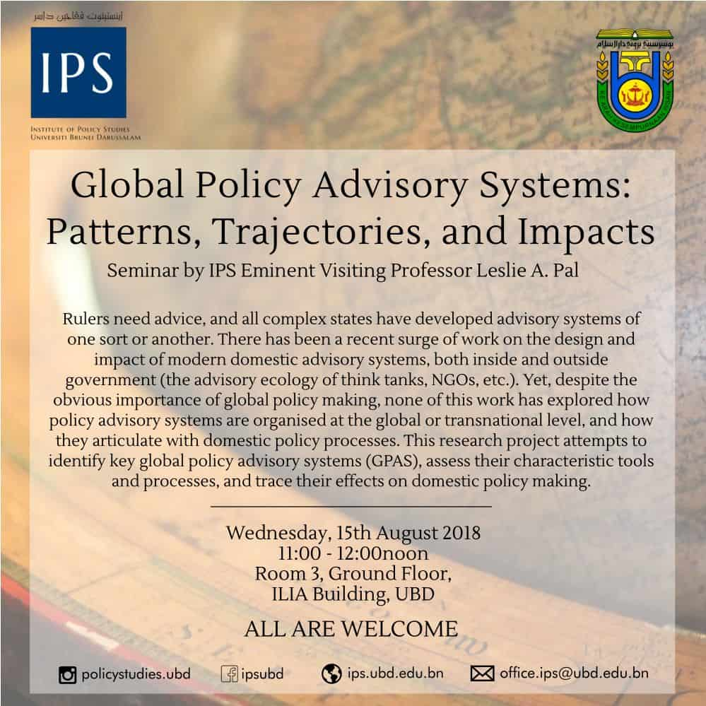 Global Policy Advisory Systems: Patterns, Trajectories, and Impacts