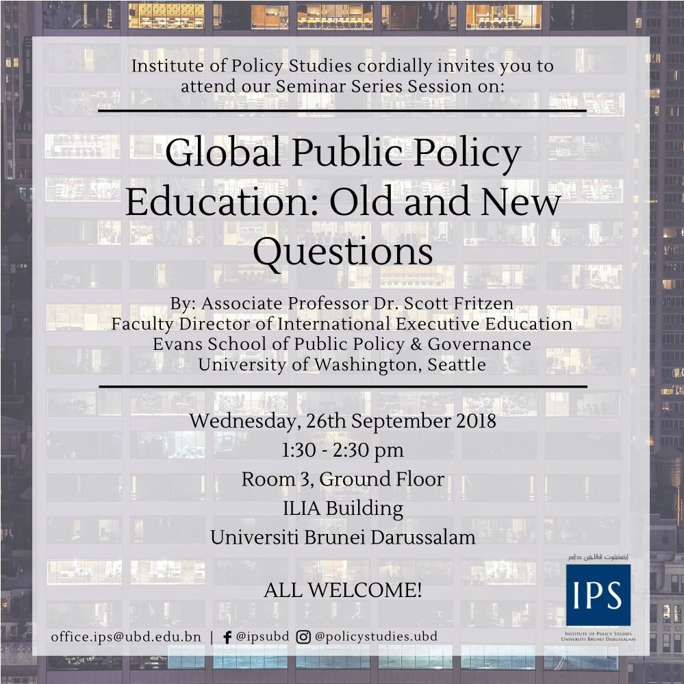 Global Public Policy Education: Old and New Questions