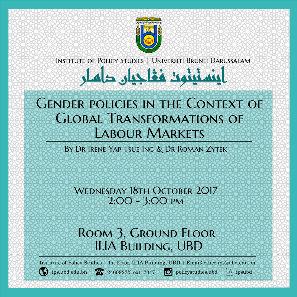 Gender policies in the Context of Global Transformations of Labour Markets