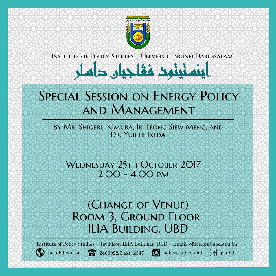 Special Session on Energy Policy and Management