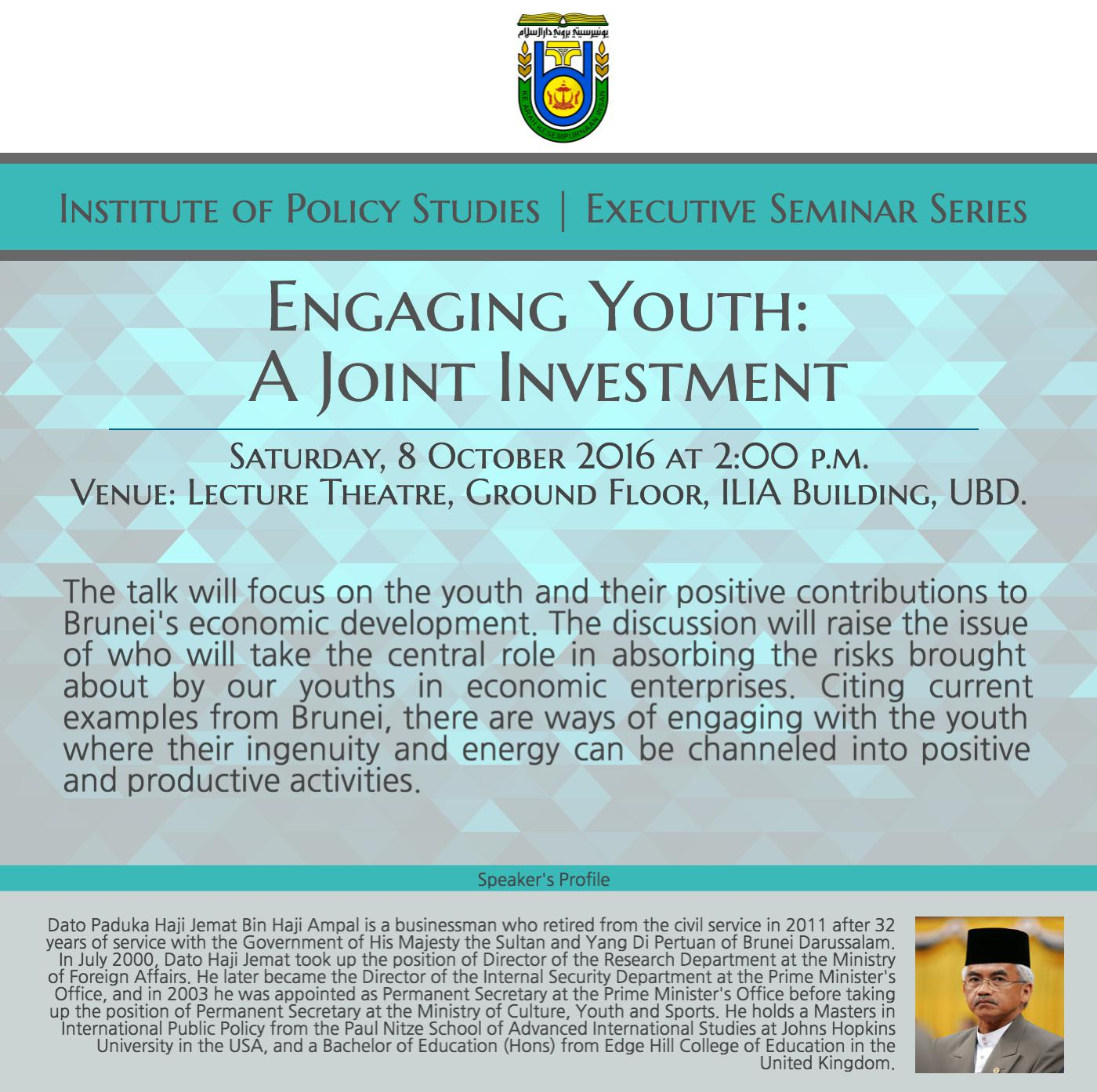 Engaging Youth: A Joint Investment