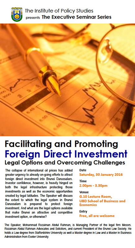 Facilitating and Promoting Foreign Direct Investment