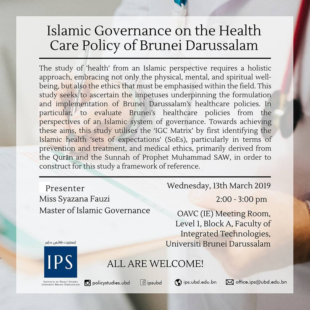 Islamic Governance on the Health Care of Brunei Darussalam