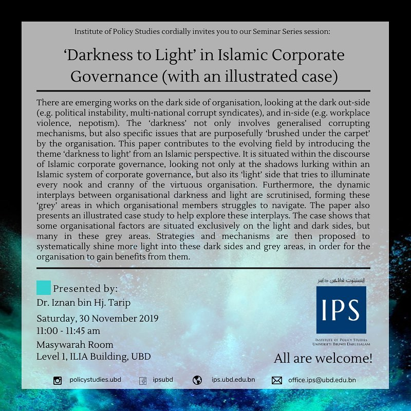 'Darkness to Light' in Islamic Corporate Governance